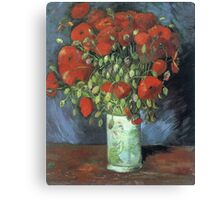 Vincent Van Gogh - Vase With Red Poppies, 1886 Canvas Print