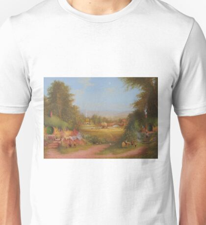 Haymaking the last harvest (a shire view) Unisex T-Shirt