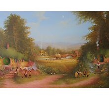 Haymaking the last harvest (a shire view) Photographic Print