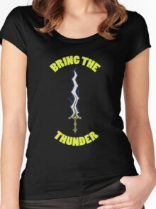 Bring The Thunder Tee Women's Fitted Scoop T-Shirt
