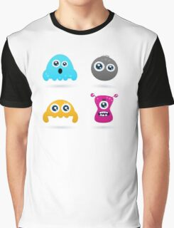 Cute monster or germs characters collection Graphic T-Shirt