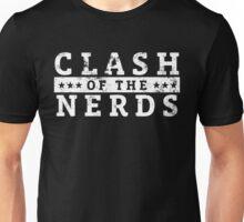 Clash of the Nerds (White Logo) Unisex T-Shirt