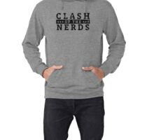 Clash of the Nerds (Black Logo) Lightweight Hoodie