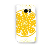 Light and fresh yellow lemon pattern or texture Samsung Galaxy Case/Skin
