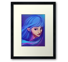 Blue Feather Elf Framed Print