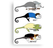 Movie Chameleons Canvas Print