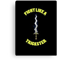 Fight Like A Trickster Tee Canvas Print