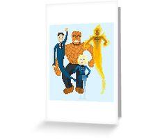 Fantastic Four Pixel Art Greeting Card