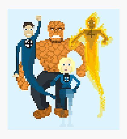 Fantastic Four Pixel Art Photographic Print
