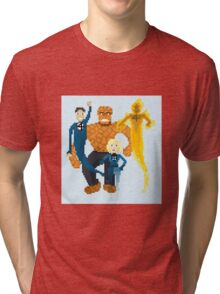 Fantastic Four Pixel Art Tri-blend T-Shirt