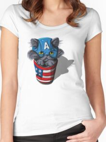 Cat-tin America Women's Fitted Scoop T-Shirt
