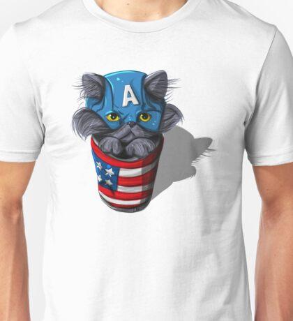 Cat-tin America Unisex T-Shirt