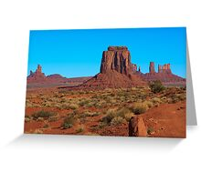 Amazing Daytime Image of Monument Valley Greeting Card
