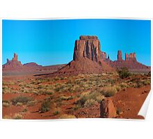 Amazing Daytime Image of Monument Valley Poster