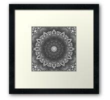 Black And White Flower Mandala Framed Print