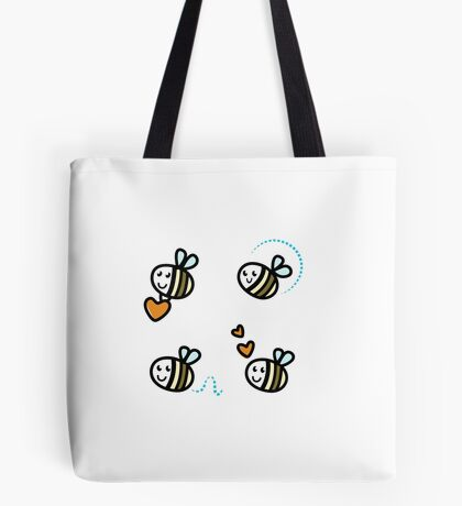 Funny Bee collection. Retro Illustration. Tote Bag