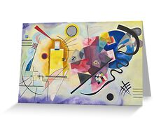 Wassily Kandinsky - Yellow Red Blue 1925  Greeting Card