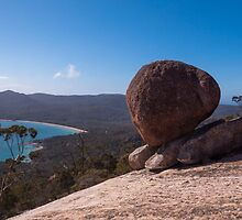 Boulder on Mt Amos, Freycinet National Park by Morag Anderson