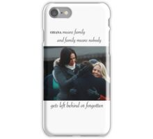 swan mills family ohana iPhone Case/Skin