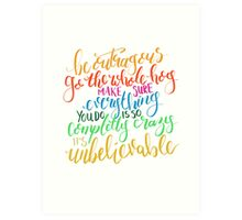 Roald Dahl Quote from Matilda  Art Print