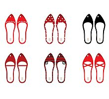 Retro simple shoes collection Photographic Print