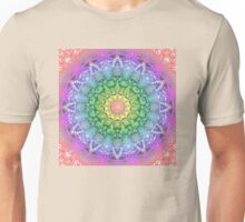 Rainbow Flower Mandala Unisex T-Shirt