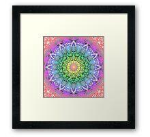 Rainbow Flower Mandala Framed Print