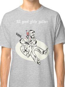BioShock – All Good Girls Gather Poster (White) Classic T-Shirt