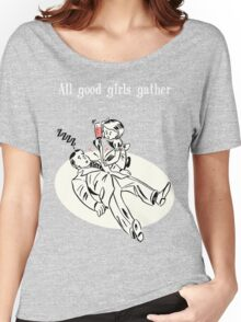 BioShock – All Good Girls Gather Poster (White) Women's Relaxed Fit T-Shirt