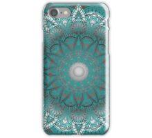 Turquoise Flower Mandala iPhone Case/Skin