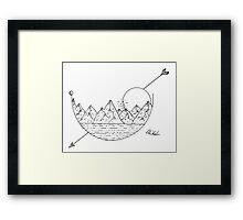Scenery (with arrow) Framed Print