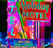 Las Vegas Motel - City Mosaics Series Sticker
