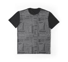 Pattern with different words to the fathers day on black background. Graphic T-Shirt