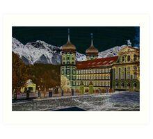 Stams Monastery Impression, Tyrol, Austria Art Print
