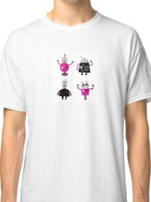 Cute cartoon robot characters Classic T-Shirt