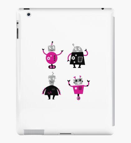 Cute cartoon robot characters iPad Case/Skin