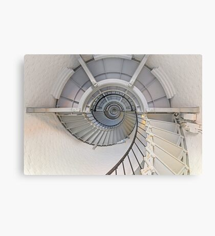 Going Up - Lighthouse Interior Metal Print