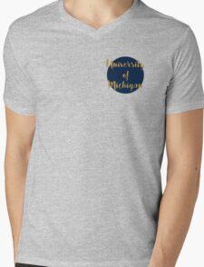 University of Michigan Mens V-Neck T-Shirt
