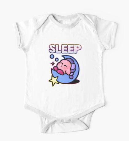 Kirby Sleep One Piece - Short Sleeve