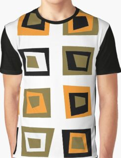 Retro seamless background or pattern with brown squares Graphic T-Shirt