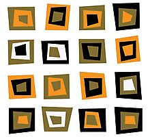 Retro seamless background or pattern with brown squares Photographic Print