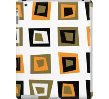 Retro seamless background or pattern with brown squares iPad Case/Skin
