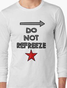 Warning: Bucky Barnes Long Sleeve T-Shirt