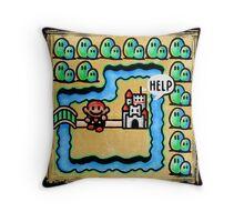 Super Mario 3 Level 1 Throw Pillow
