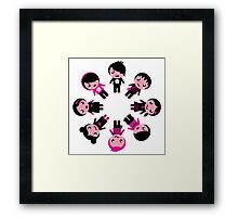 Cute retro emo kids group Framed Print
