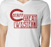 Great Western Staff Mens V-Neck T-Shirt