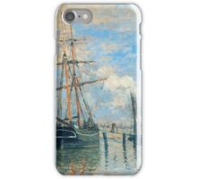 Claude Monet - The Seine at Rouen (1872)  iPhone Case/Skin