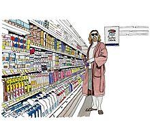 Jeffrey Lebowski and Milk. AKA, the Dude. Photographic Print