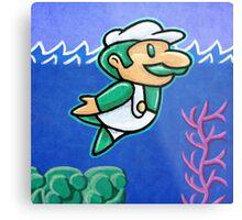 Luigi Swimmin' Metal Print