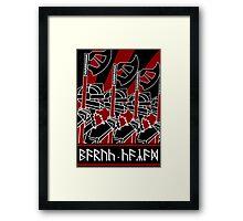 Dwarven Constructivist Poster - Baruk Kazâd! Framed Print